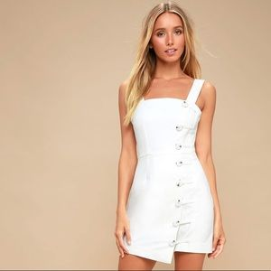 findersKEEPERS // mila ivory button mini dress
